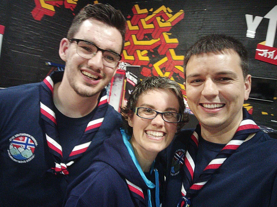 Some of our adult volunteers in Scouting